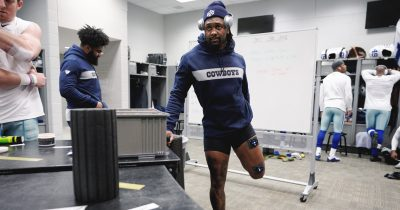 football-player-kavon-frazier-muscle-stimulator